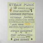 Steampunk Subway Art Poster