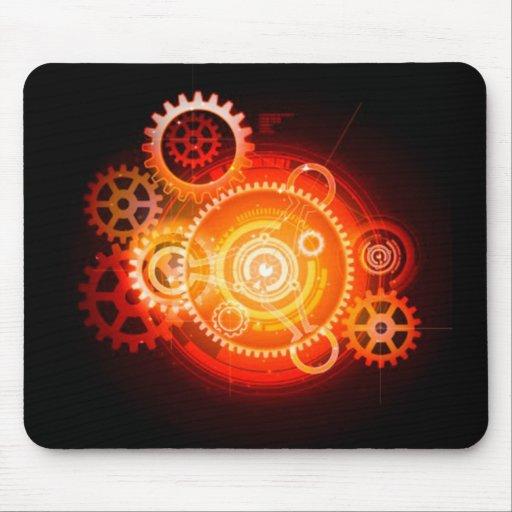 Steampunk Sunrise Mouse Pad