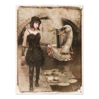 Steampunk Swan Photo Art