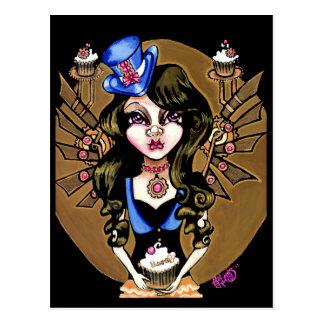 Steampunk Sweetie Postcard