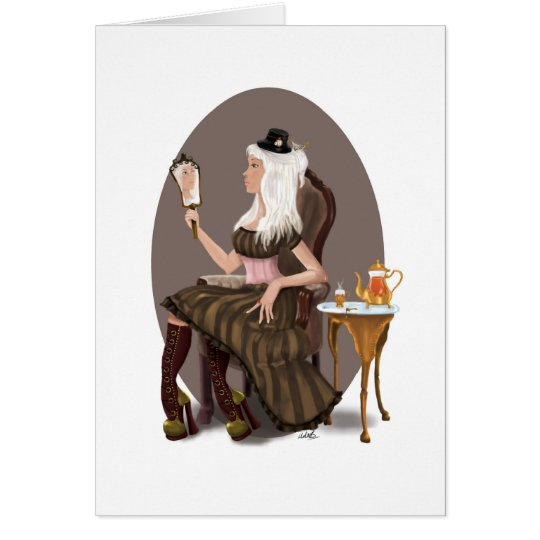 Steampunk Tea Card