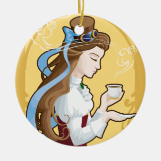 Steampunk Tea Time Christmas Ornament