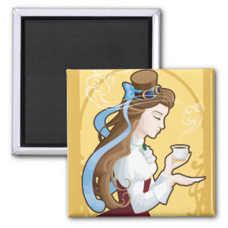 Steampunk Tea Time Magnet
