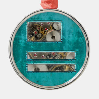 Steampunk teal christmas ornament
