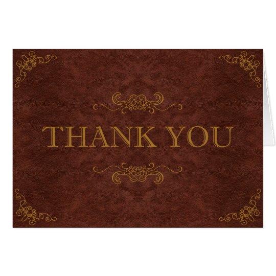 Steampunk Thank You Card