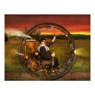 Steampunk - The gentleman s monowheel Full Color Flyer