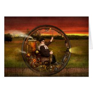 Steampunk - The gentleman's monowheel Card