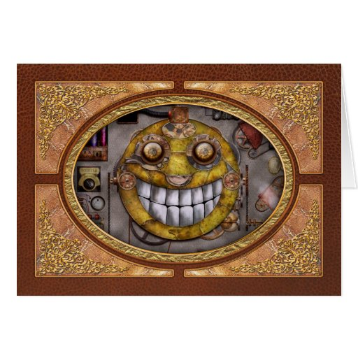 Steampunk - The joy of technology Greeting Cards