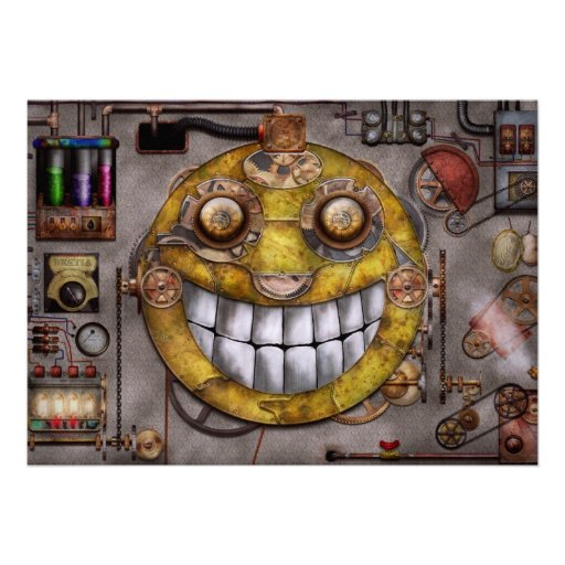 Steampunk - The joy of technology Invitations