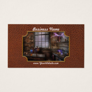 Steampunk - The Mad Scientist Business Card