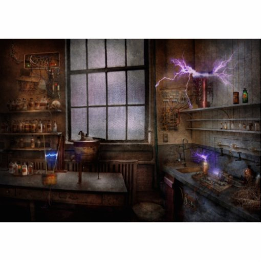 Steampunk - The Mad Scientist Photo Cut Out