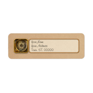 Steampunk - The pressure gauge Return Address Label