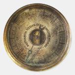 Steampunk - The pressure gauge Round Stickers
