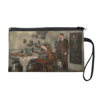 Steampunk - The wireless apparatus - 1905 Wristlet Purse