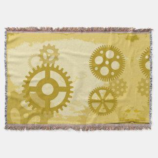 Steampunk throw blanket