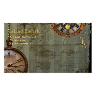 Steampunk Time Machine Business Profile Cards Pack Of Standard Business Cards