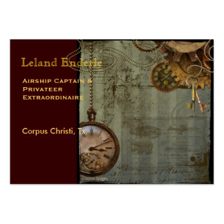 Steampunk Time Machine Business Profile Cards Business Card