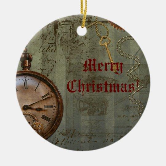 Steampunk Time Machine Christmas Ornament