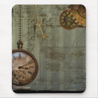 Steampunk Time Machine Mouse Pad