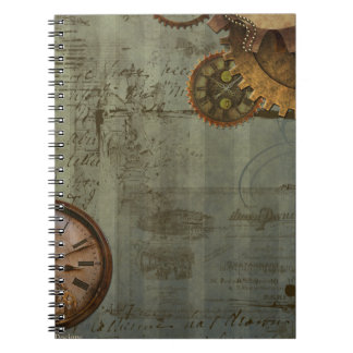 Steampunk Time Machine Spiral Note Books