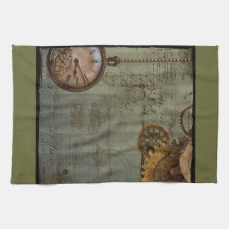 Steampunk Time Machine Tea Towel