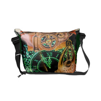 Steampunk Time Messenger Bags