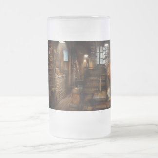 Steampunk - Tool room of a mad man Frosted Glass Mug