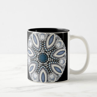 Steampunk Topaz Kaleidoscope Two-Tone Coffee Mug