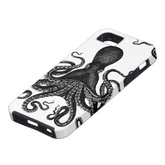 Steampunk Tough Kraken - Victorian Octopus iPhone 5 Case