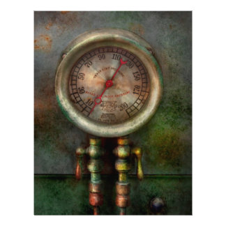 Steampunk - Train - Brake cylinder pressure 21.5 Cm X 28 Cm Flyer