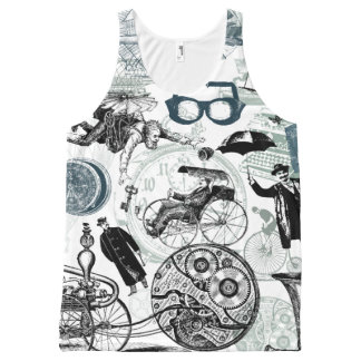 Steampunk Traveler Collage #2 All-Over Print Tank Top