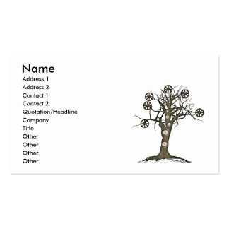 steampunk tree business card templates