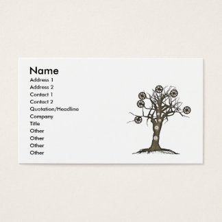 steampunk tree business card