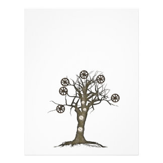 steampunk tree full color flyer