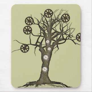 steampunk tree mouse pad