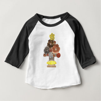 Steampunk Tree No Background Kid's Raglan Top