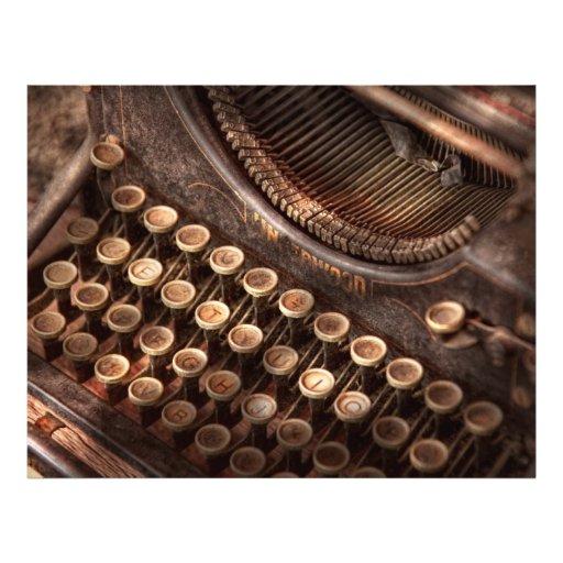 Steampunk - Typewriter - Too tuckered to type Custom Flyer