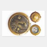 Steampunk Uhr Rechrteckaufkleber
