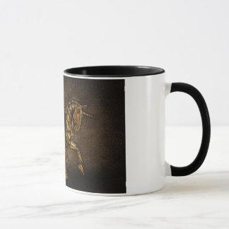 Steampunk Unicorn Damask Mug
