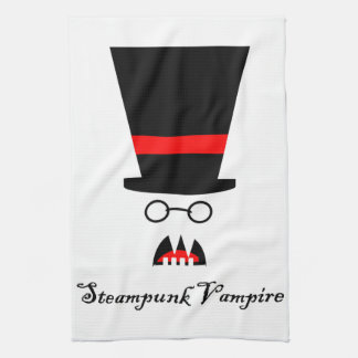 Steampunk Vampire Tea Towel