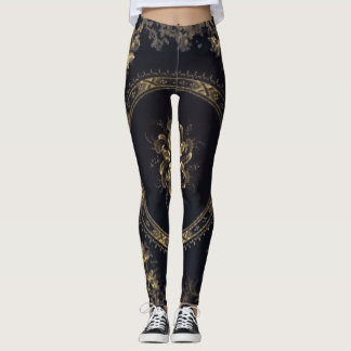 Steampunk Victoria Blue/Black Leggings