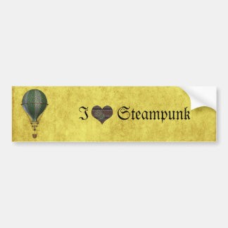 Steampunk Victorian Balloon Bumper Sticker