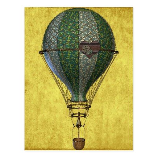 Steampunk Victorian Balloon Postcards