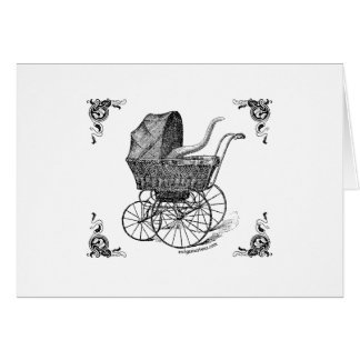 Steampunk Victorian Cthulhu baby Greeting Card