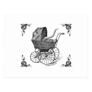 Steampunk Victorian Cthulhu baby Postcard