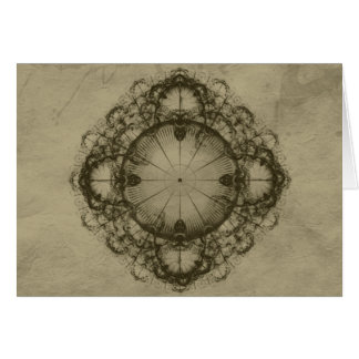 Steampunk Victorian design art Card