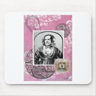Steampunk Victorian Dog Woman Lady Gears Mouse Pad