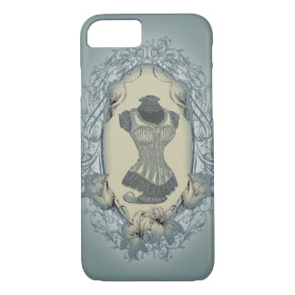 steampunk victorian floral wreath vintage corset iPhone 8/7 case