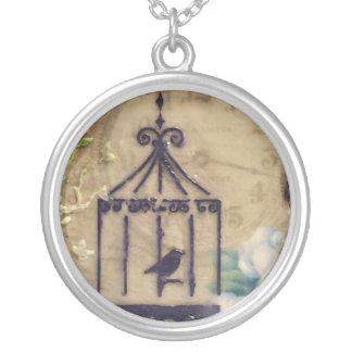 Steampunk / Victorian vintage birdcage necklace