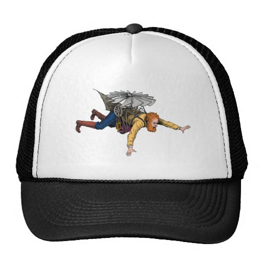 Steampunk Vintage Flying Machine Mesh Hats